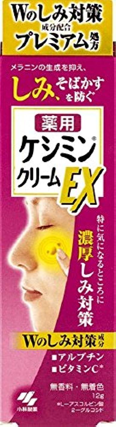 ウィンク集計落胆するケシミンクリームEX 濃厚シミ対策 塗るビタミンC アルブチン 12g 【医薬部外品】