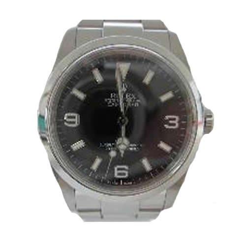 [ロレックス] ROLEX エクスプローラー1 新ジョイント 腕時計 ウォッチ ブラック ステンレススチール(SS) 114270 [中古]