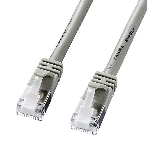 サンワサプライ ツメ折れ防止カテゴリ5eSTP LANケーブル 1m ライトグレー KB-STPTS-01