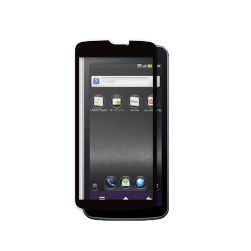 iBUFFALO au AQUOS Phone IS13SH 気泡レス【誰が貼っても気泡ができにくい】液晶保護フィルムイージーフィット/反射(ブラック) BSEFIS13SHBK