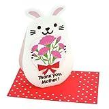 【母の日】ウサギ アニマルメッセージカードHappy Mother's Day Card通販