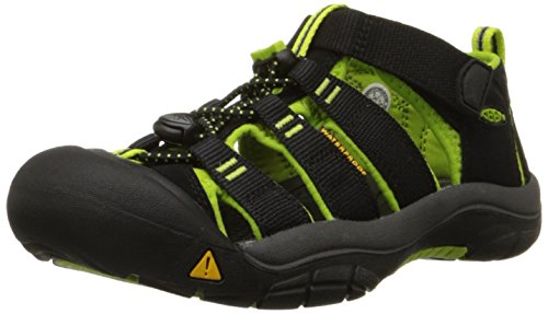 [キーン] KEEN KIDS NEWPORT H2 1009942 BLACK/LIME GREEN (BLACK/LIME GREEN/US 10)