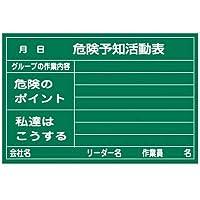 緑十字 危険予知活動表(ラミプレートタイプ) 600×900mm 317011