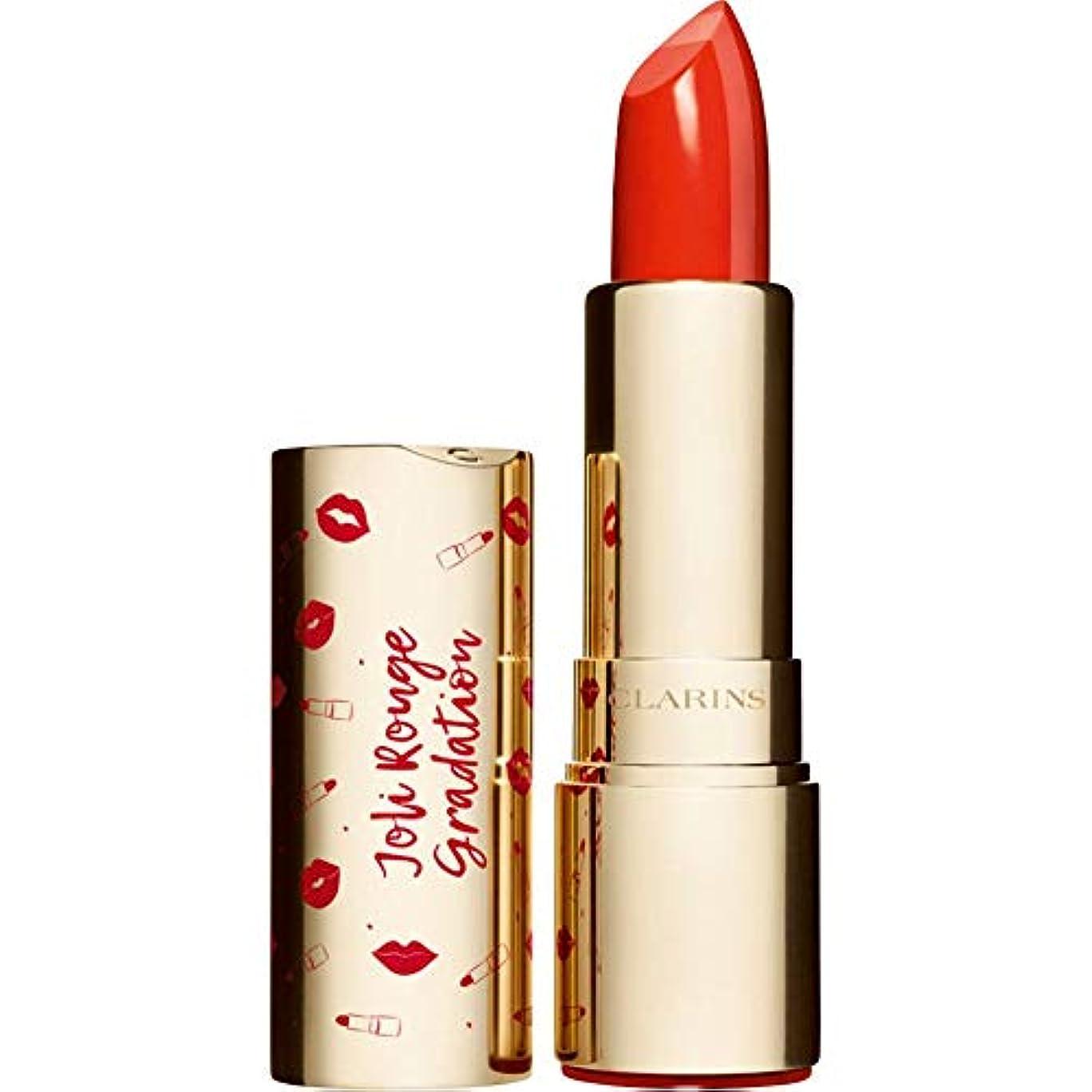 超高層ビルメッセージ添加[Clarins] クラランスジョリルージュグラデーションツートンカラーの口紅3.5グラム801 - 珊瑚グラデーション - Clarins Joli Rouge Gradation Two-Toned Lipstick 3.5g 801 - Coral Gradation [並行輸入品]