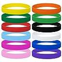 (12個入り)選べる12色!GOGO シリコンバンド ゴム製 腕輪 ゴム製 腕輪 無地 子供向き/キッズ用 ゴムブレスレット ダース パーティー イベント スポーツ大会最適 - 色込