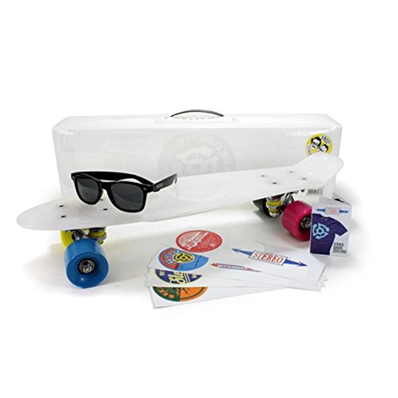 Stereo Vinyl Cruiser Plastic Complete Skateboard (22.5x6-Inch)ステレオ バイナルクルーザー プラスティックコンプリート スケートボード/クリア
