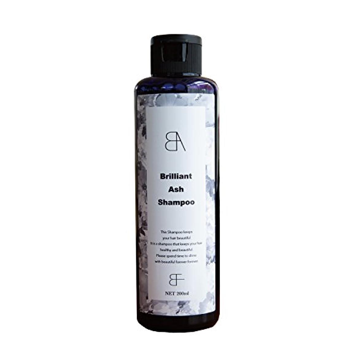 成分大使館ダンスBrilliant Ash Shampoo(ブリリアント アッシュ シャンプー) カラーシャンプー シルバーシャンプー 200ml (サロン専売商品)