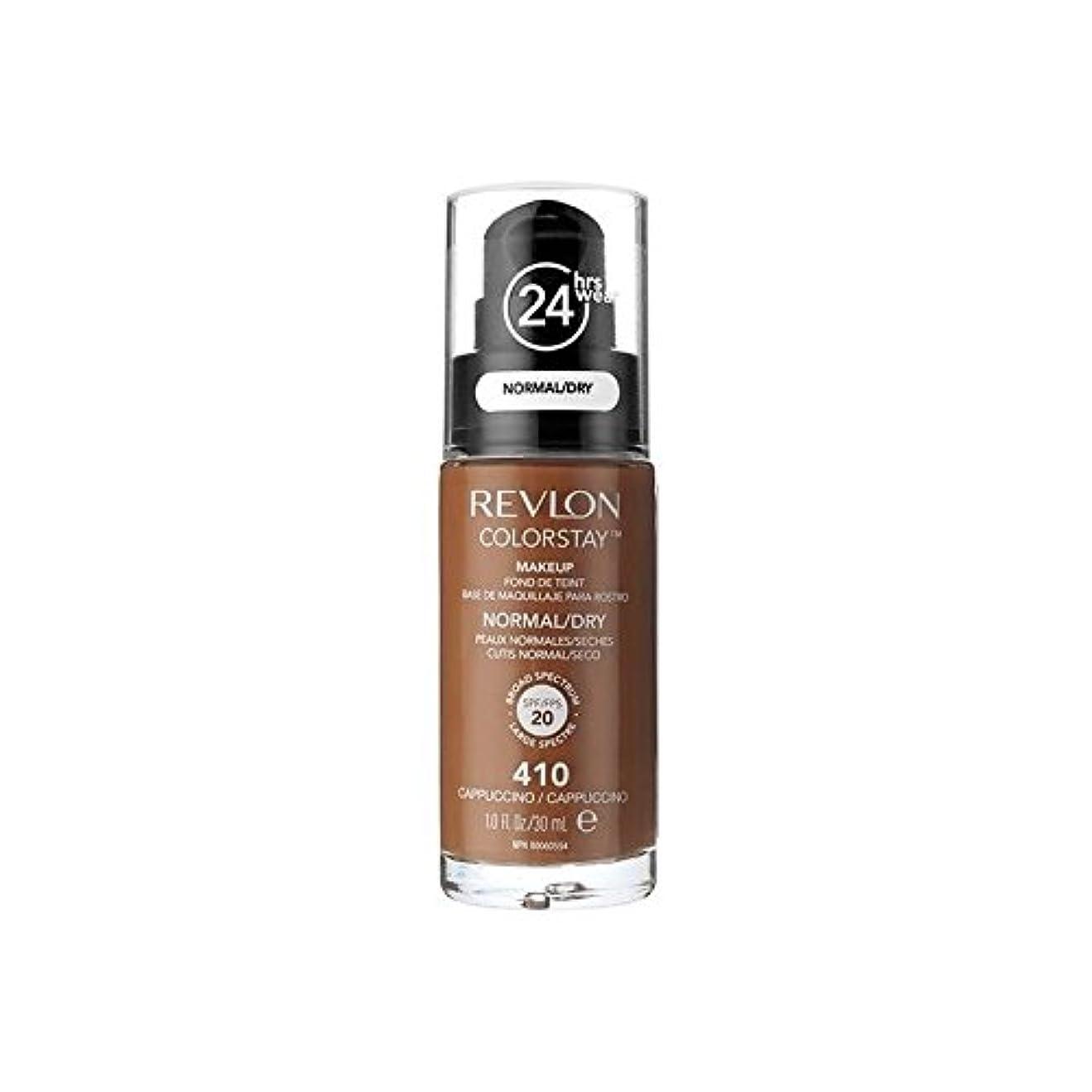 おなじみのミシン目センサーレブロンの基礎通常の乾燥肌のカプチーノ x4 - Revlon Colorstay Foundation Normal Dry Skin Cappuccino (Pack of 4) [並行輸入品]