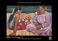 Paul Gauguin V 2019 - Édition noire - Calendrier mural Timokrates, calendrier photo, calendrier photo - DIN A3 (42 x 30 cm)