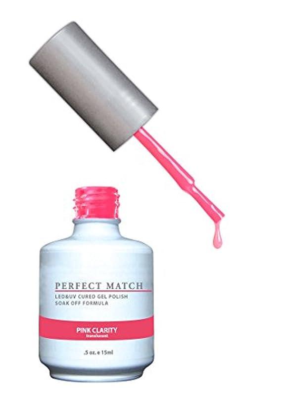 結晶フェンス鎮静剤LeChat LECHATパーフェクトマッチマニキュア、 0.500オンス ピンククラリティ