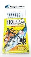 ハヤブサ(Hayabusa) サビキ 仕掛け IB052S 大型 ニシン 6本針 ケイムラ仕様【北海道限定】 (10号(ハリス4号))