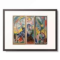 フランツ・マルク Franz Marc 「Landscape with rainbow/Landscape with rainbow (Fabulous beast) / Landscape with rainbow」 額装アート作品