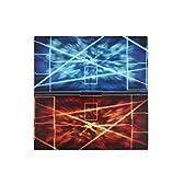 おもちゃの神様 ラバー カード プレイマット レッド&ブルー(対戦用) 60×60×0.2cm