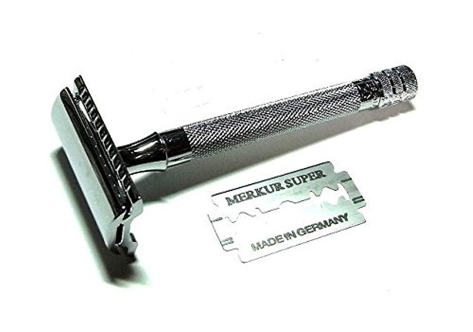 環境に優しい組み立てるエンディングメルクール髭剃り(ひげそり)23C 両刃ホルダー 替刃1枚付)