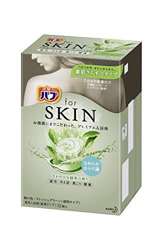 バブ for SKIN 素肌さらすべタイプ さわやかな緑茶の香り 40g×12錠
