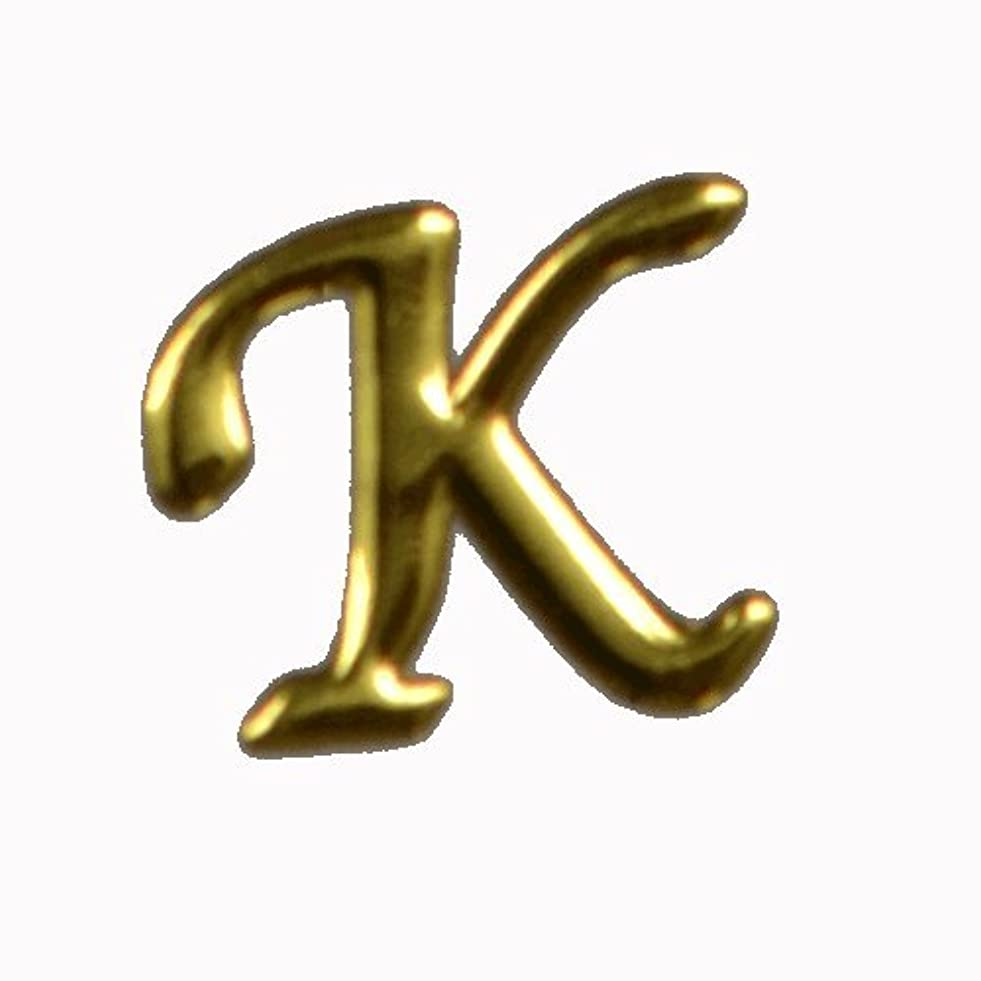 大洪水懸念新聞アルファベット 薄型メタルパーツ 20枚 /片面仕上げ イニシャルパーツ (K / 5x6mm)