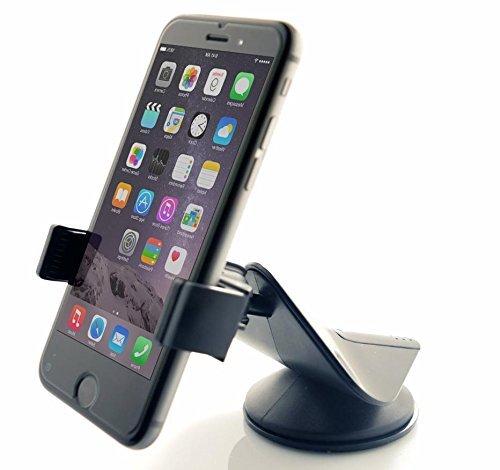 Arteck車載ホルダー (360度回転可能 粘着ゲル吸盤 横幅調節可能) フロントガラス ダッシュボード スマートフォン iPhone 7/6 Plus Samsung Sony種に対応 ブッラク