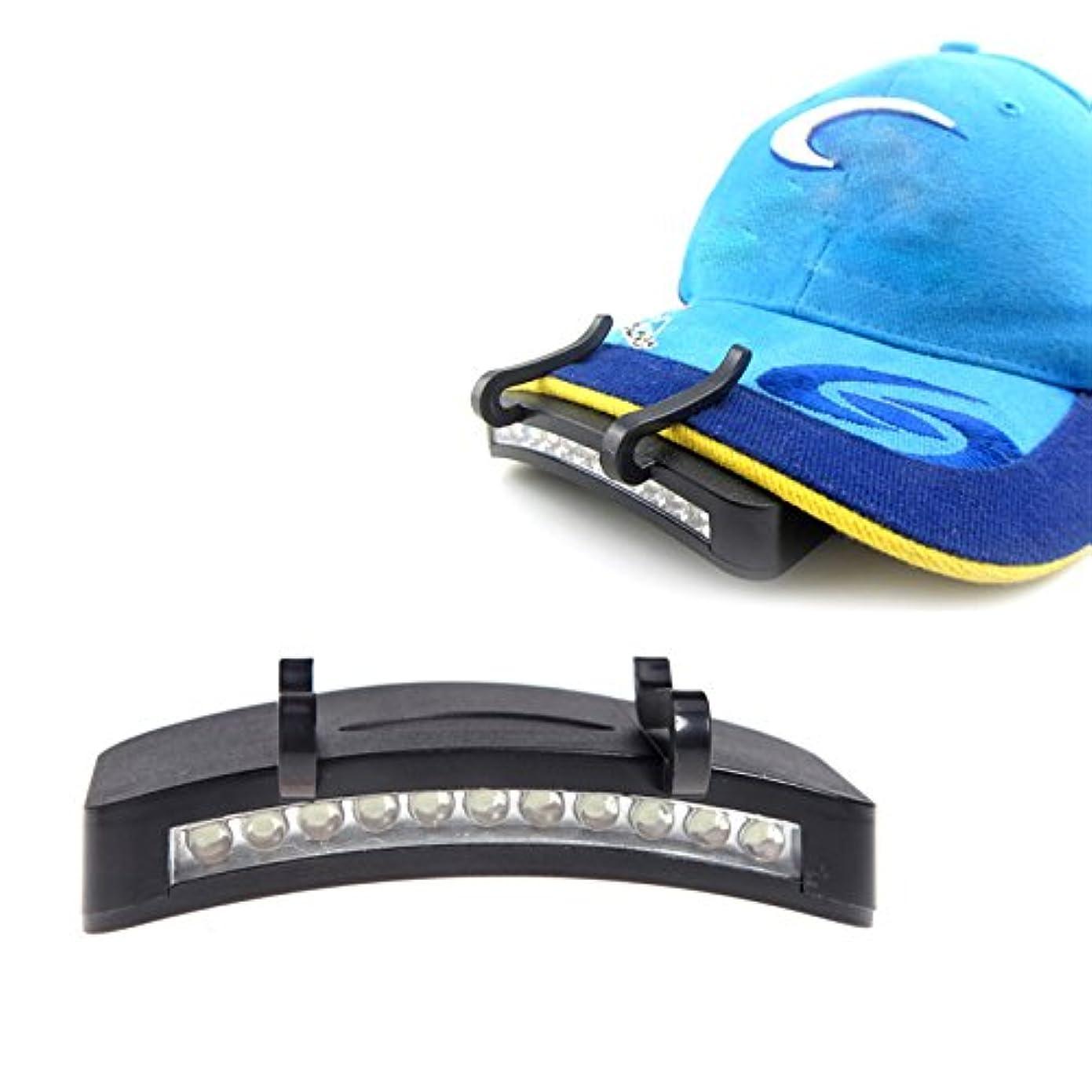 耐える満足できるはずGressu(TM)11 LED Caplightのクリップオンキャップクリップライトヘッドライトヘッドライトアウトドアサイクリングハイキングキャンプ夜釣りの修理車のヘッドトーチ