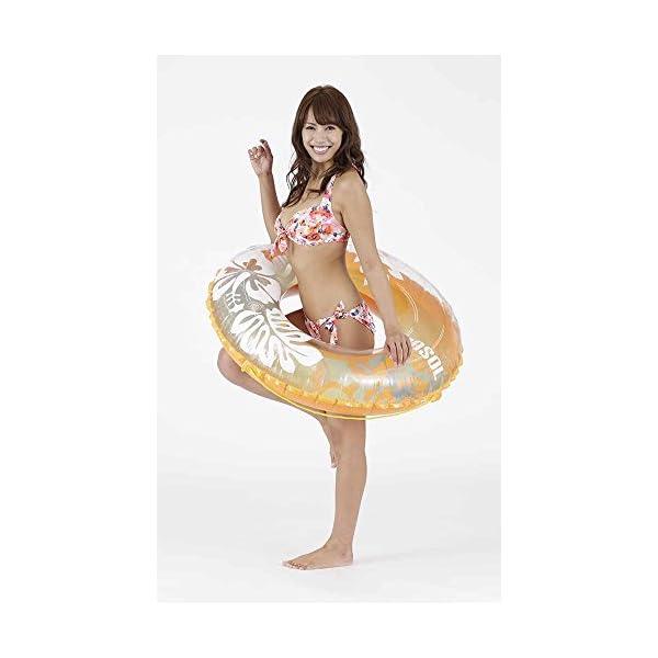 ドウシシャ 浮き輪 オレンジホヌ 100cmの紹介画像3