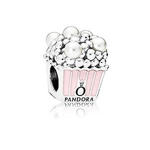 [パンドラ] PANDORA Delicious Popcorn チャーム (スターリングシルバー エナメル クリスタルパール) 正規輸入品 797213EN160
