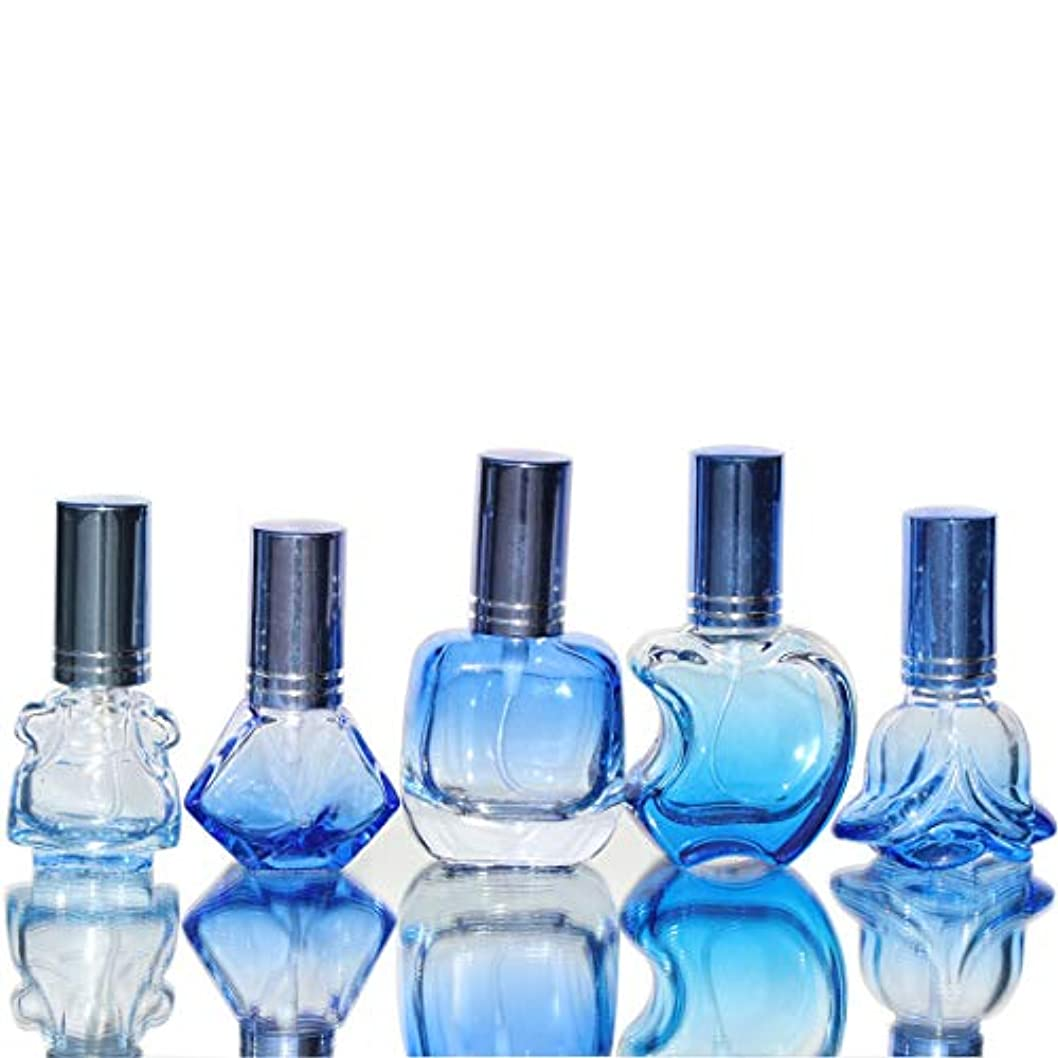 運動する光沢のあるとにかくWaltz&F カラフル ガラス製香水瓶 フレグランスボトル 詰替用瓶 空き アトマイザー 分け瓶 旅行用品 化粧水用瓶