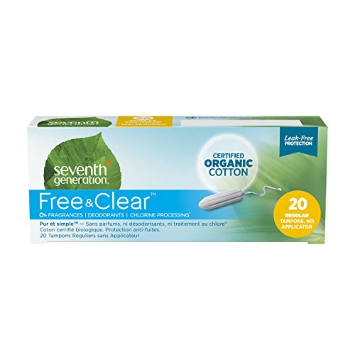 Seventh Generation, Organic Cotton Tampons, No Applicator, Regular, 20 Tampons (Discontinued Item)