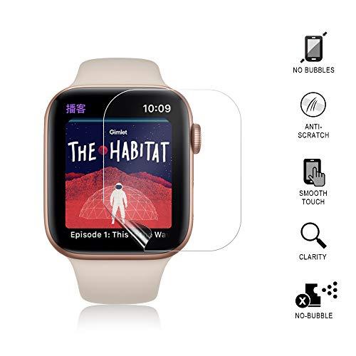 『VICARA Compatible apple watch series 4 保護フィルム 非ガラス 水貼り 貼り直し可 超薄 TPU保護フィルム 気泡ゼロ Compatible apple watch series 4 スクリーン保護フィルム(6枚入り 44mm)』の1枚目の画像