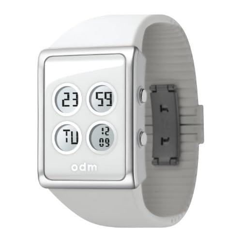[オーディーエム]o.d.m 腕時計 M Bloc (エム・ブロック) デジタル表示 クロノグラフ・デュアルタイム機能付き ホワイト DD120-2 メンズ