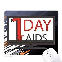 12分の1世界エイズの日のhivのシンボル ノンスリップラバーマウスパッドはコンピュータゲームのオフィス