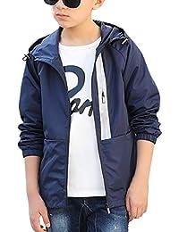 子供 アウター 男の子 ジャケット アウター 秋 防風 フード付き 薄手 登山 遠足 軽量 2色