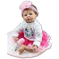 NPK collection Real Lifelike人形Rebornベビーガール人形幼児用リアルなソフトシリコンビニール新生児子成長パートナー55 cm 22インチ誕生日ギフトXmas Present Freeマグネットparcifer