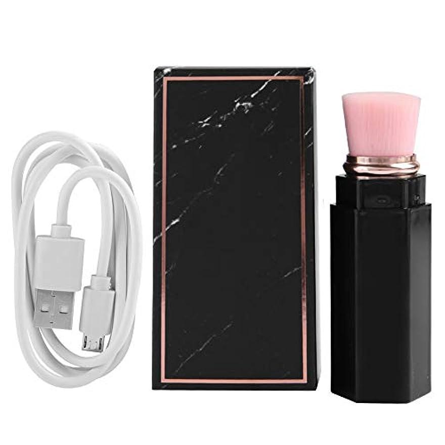 電動化粧ブラシ、ファンデーションブラッシュ用プレミアム化粧ブラシ、高品質合成繊維、プロおよび個人使用のための3D化粧効果(3#)
