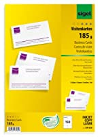 Sigel dp830ビジネスカード、MP、125.0ポンド、明るいホワイト、150pcs。