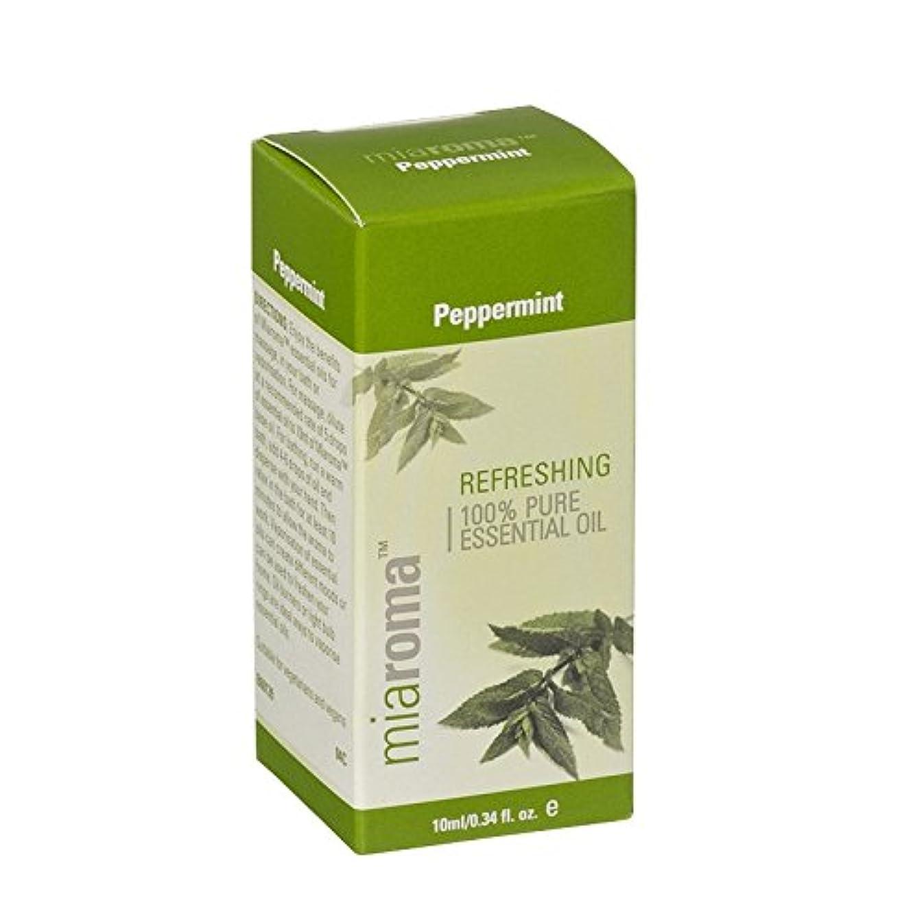 小道具同時診療所Miaroma Peppermint Pure Essential Oil (Pack of 6) - Miaromaのペパーミント純粋なエッセンシャルオイル (x6) [並行輸入品]