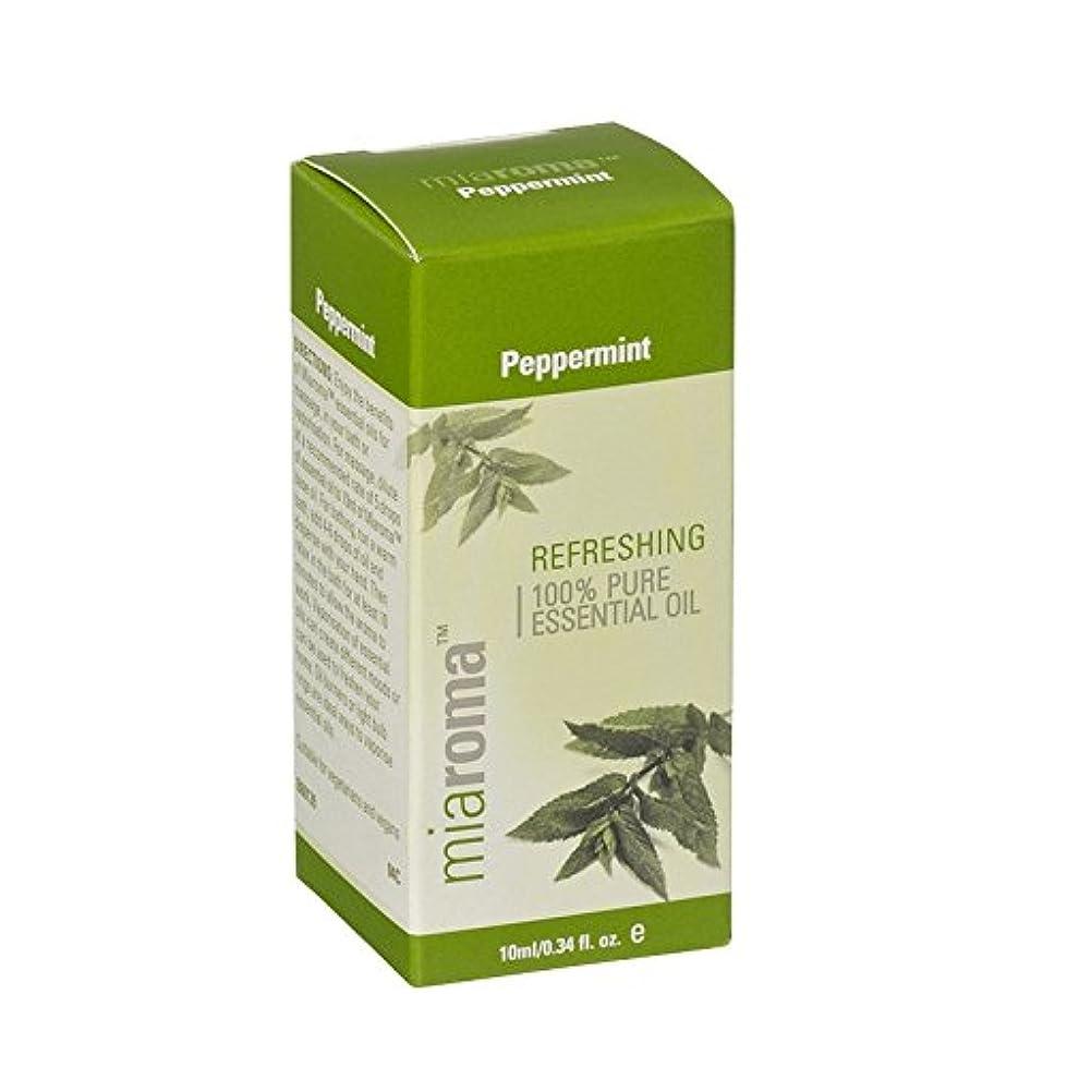 ホーン雨チェスをするMiaroma Peppermint Pure Essential Oil (Pack of 2) - Miaromaのペパーミント純粋なエッセンシャルオイル (x2) [並行輸入品]