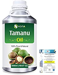 Tamanu (Calophyllum inophyllum) Natural Pure Undiluted Uncut Carrier Oil 5000ml/169 fl.oz.