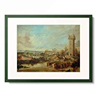 ピーテル・パウル・ルーベンス Peter Paul Rubens 「Landschaft mit Turm, 1636–1638.」 額装アート作品