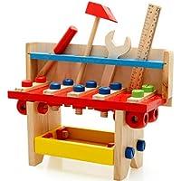 大工さんセット 工具セット ねじ遊び エンジニアになる おままごと 木のおもちゃ 工具箱 ツール 組み立て 男の子のおもちゃ キッズ用 子供のおもちゃ 知育玩具 誕生日 クリスマス プレゼント