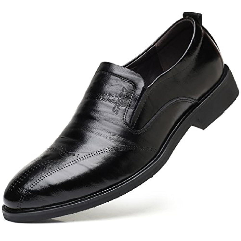 レーニン主義ハプニング整理するWEWIN ビジネスシューズ メンズ 本革 ローファー スリッポン サイドゴア 大きいサイズ 革靴 ファッション 蒸れない 防滑 通気