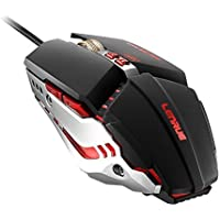 ゲーミングマウス ゲームマウス ゲーム用マウス ゲーム用 調整可能DPI プログラマブル&呼吸LEDライト 7つボタン備えたUSB有線 LEDライト付き 有線人間工学マウス Windows、IOS、Macシステムなどうに対応 コンピュータ ラップトップ PCなど
