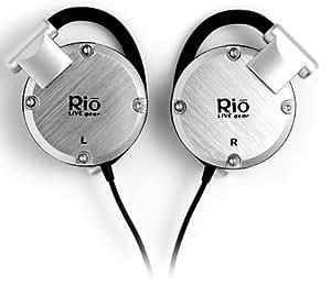 Rio LIVE gear シリコンイヤーフック式ヘッドホン(専用ソフトケース付) シルバー [PHP-200S]