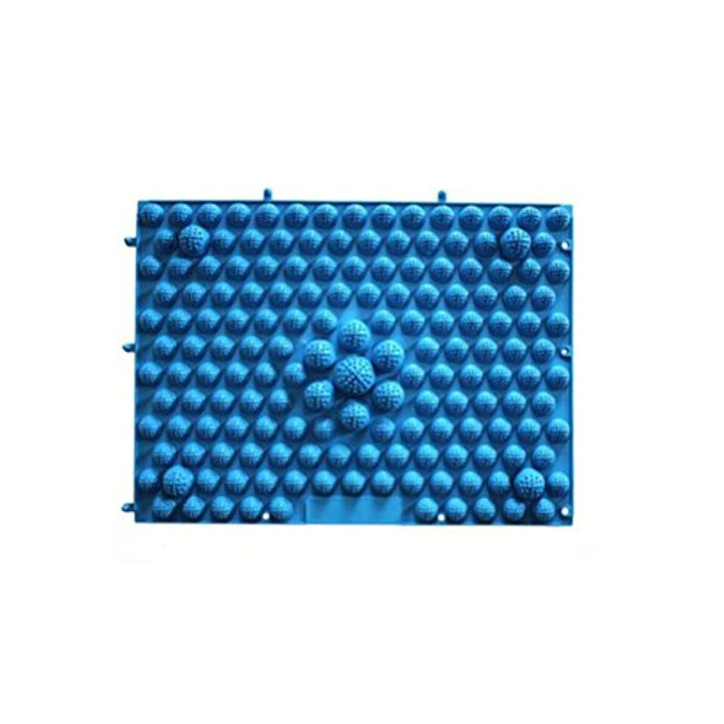 たらいエージェント膨らみROSENICE 足マッサージマット 血液循環指圧マットフィートヘルスケアマッサージプレート(ブルー)