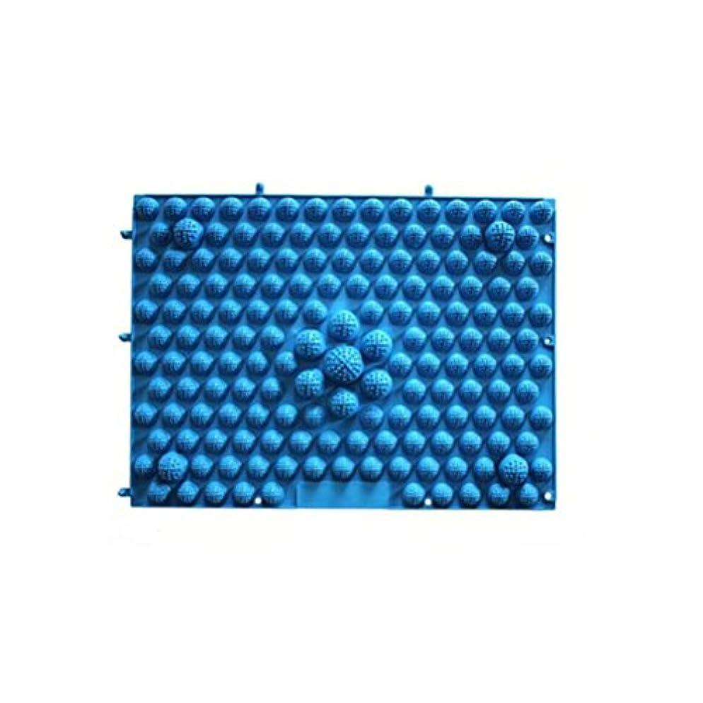 硬いエンコミウム大理石ROSENICE 足マッサージマット 血液循環指圧マットフィートヘルスケアマッサージプレート(ブルー)