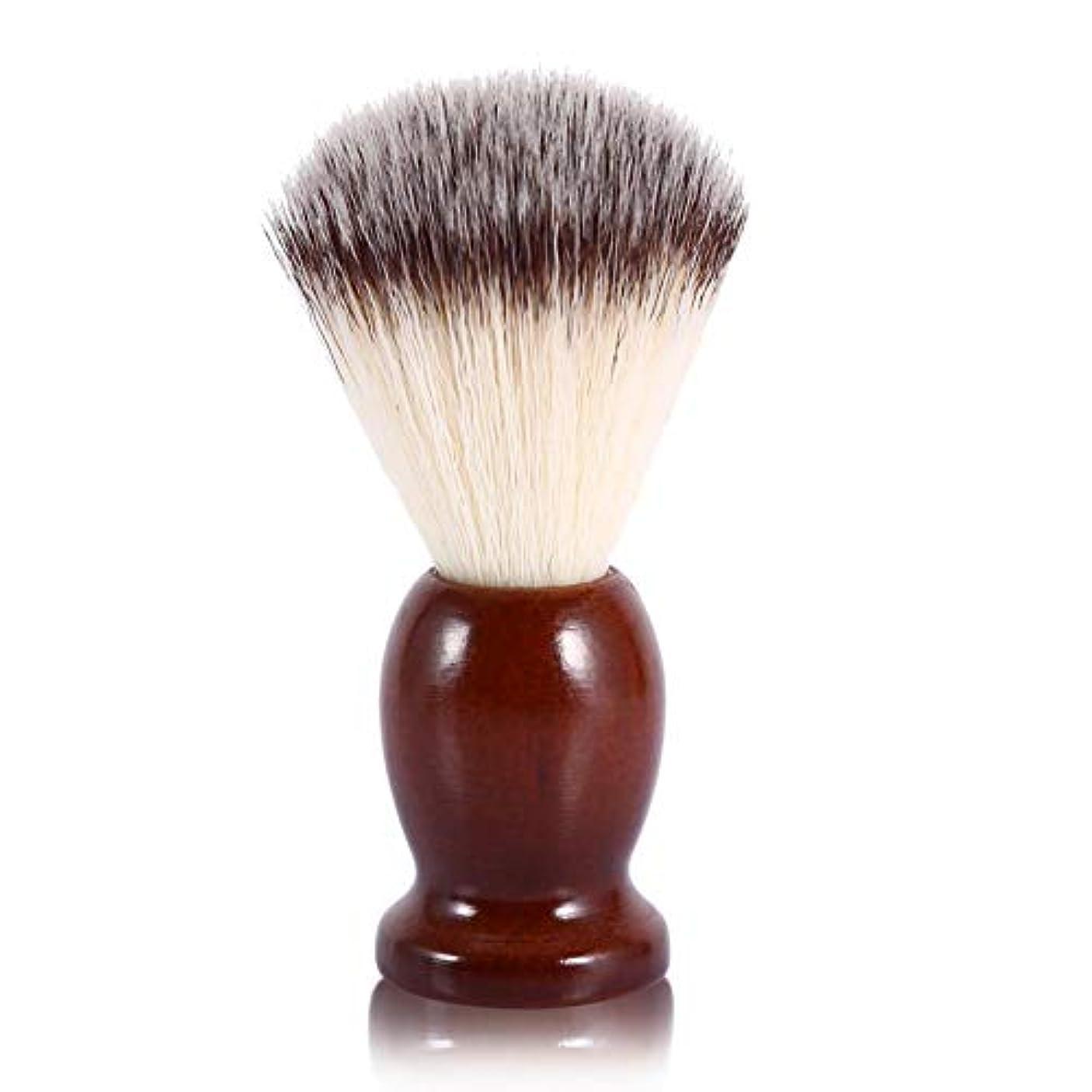ポンプ独立地震Qinlorgo シェービングブラシ メンズ シェービングブラシ あごひげシェービングブラシ フェイシャルクリーニングブラシ バーバー サロンツール プロの理髪/サロン用 家庭用