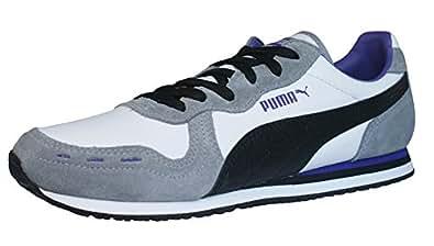 Puma Cabana Racer II LSレディースレザースニーカー/靴–ホワイト 8 B(M) US ホワイト 35091503-55UK