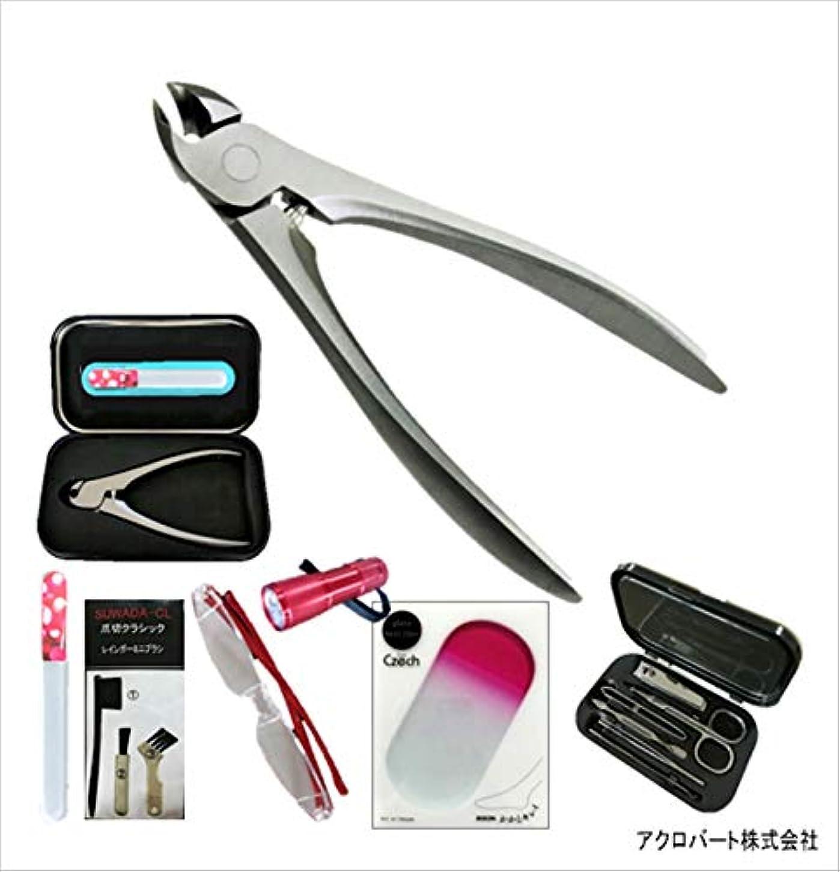 電信使用法カール507女性用SCL120爪切&爪ヤスリTM12&かかとヤスリHP2&拡大鏡RLR&9LEDR&AR1