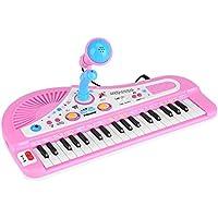 Yosoo キッズ ピアノ 音楽おもちゃピアノ 子供用キッズピアノ 知育玩具 ピアノおもちゃ マイク37 可動マイク 多機能音楽玩具 電子学習 バッテリー駆動式 教育用楽器 贈り物