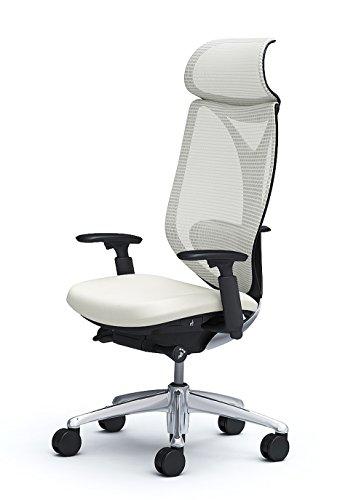 オカムラ オフィスチェア サブリナ スタンダード エキストラハイバック 可動肘 オプションパーツ付き ホワイト C855BX-FSY2