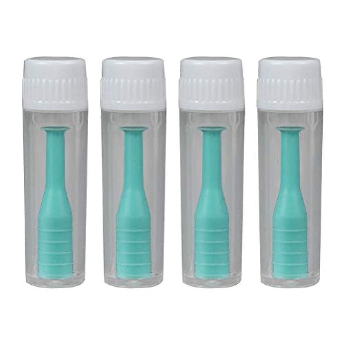 Healifty レンズピン コンタクトレンズ つけはずし器具 挿入&取り外しツール 装着器具 リムーバー ポータブル ボトル付 旅行 家庭 4個(グリーン)