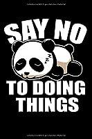 Notizbuch: Panda Faul Schlafen Nichts Tun Couch Geschenk 120 Seiten, 6X9 (Ca. A5),Blanko / Skizzen